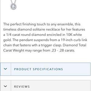 Kay Jewelers Jewelry - Diamond 10k white gold necklace